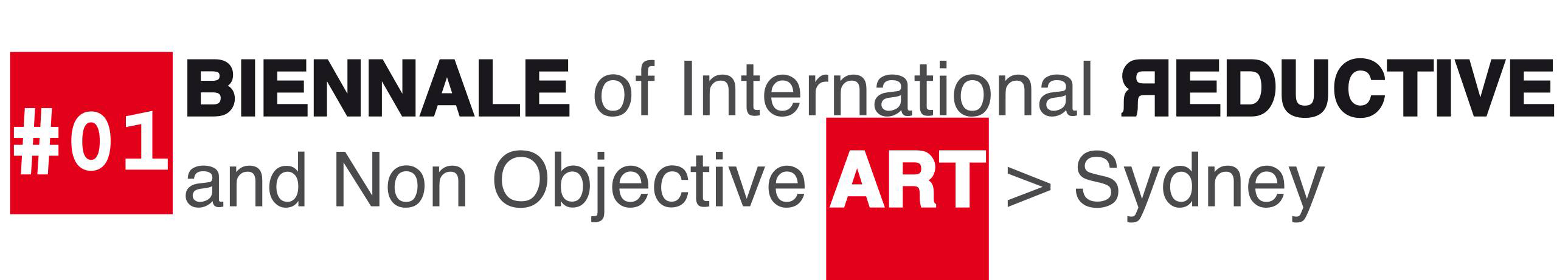 #1 Biennale of International Reductive and Non Objective Art invitation